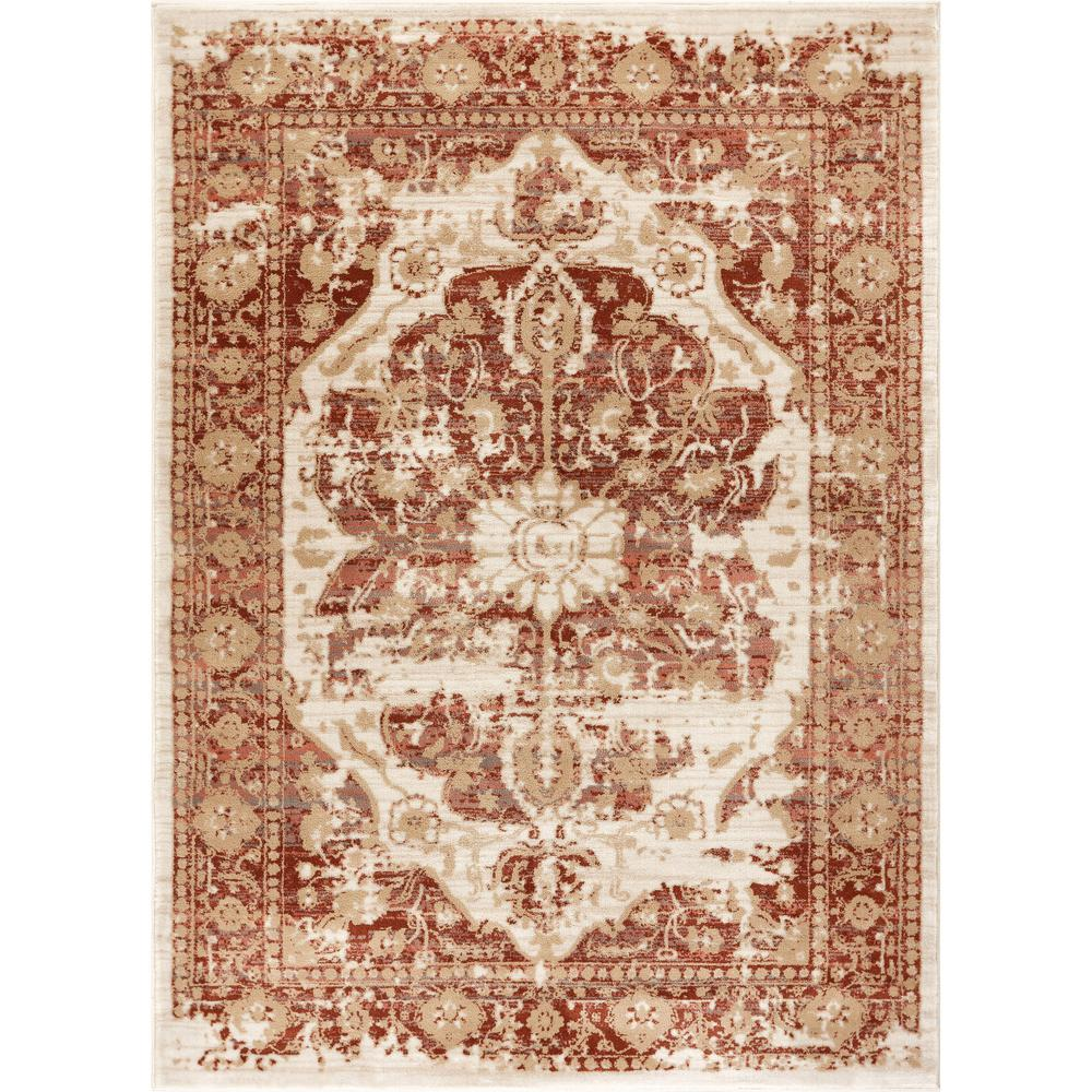 d6ae92d00 Well Woven Kensington Maxwell Copper 9 ft. 3 in. x 12 ft. 6 in. Modern  Medallion Antique Vintage Distressed Area Rug-KE-30-8 - The Home Depot
