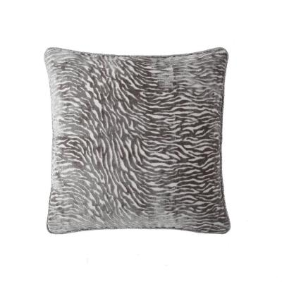 Morgan Home Silver Animal Print 18 in Throw Pillow Cover