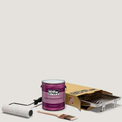 1 gal. #PPU18-08 Painters White Ultra Eggshell Enamel Interior Paint and 5-Piece Wooster Set All-in-One Project Kit