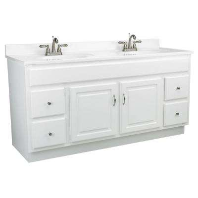 Concord 60 in. W x 21 in. D Unassembled Vanity Cabinet Only in White Gloss