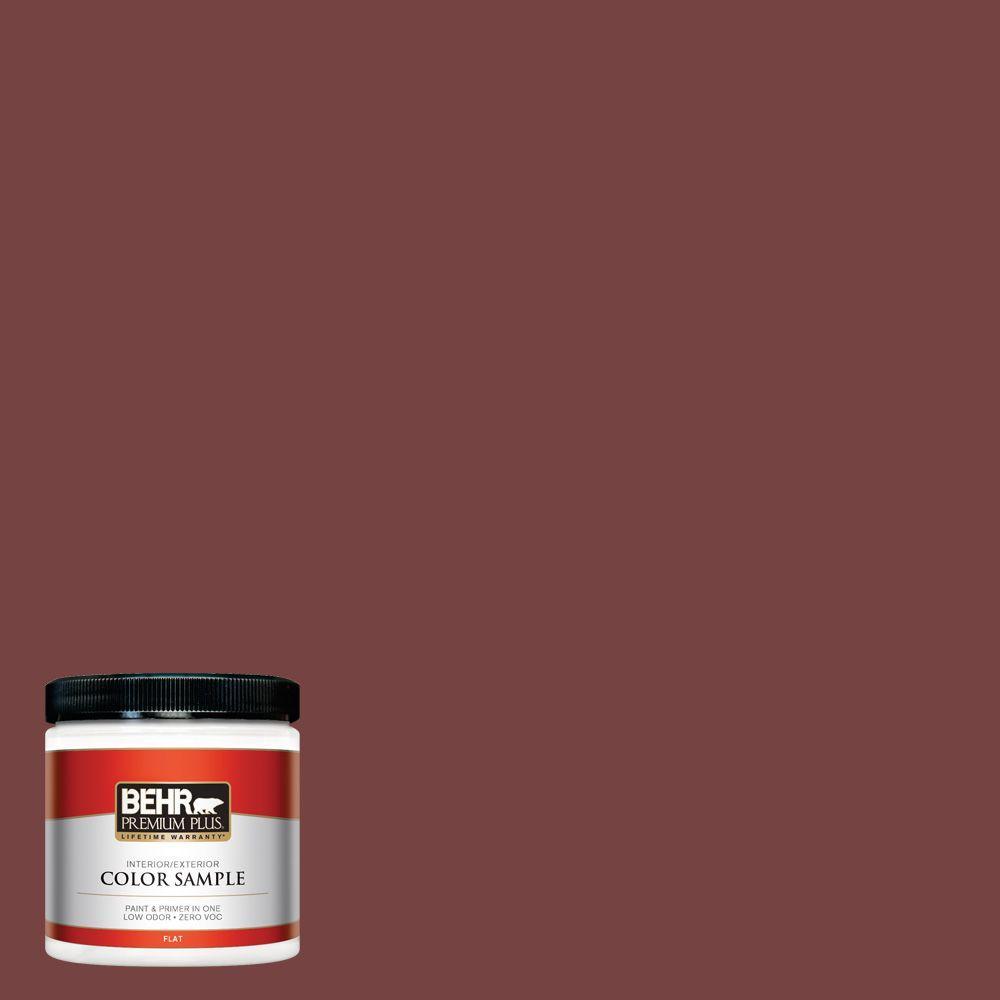8 oz. #S130-7 Cherry Cola Interior/Exterior Paint Sample