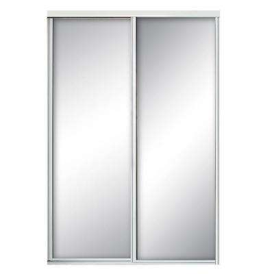 Concord Mirrored White Aluminum Interior Sliding Door