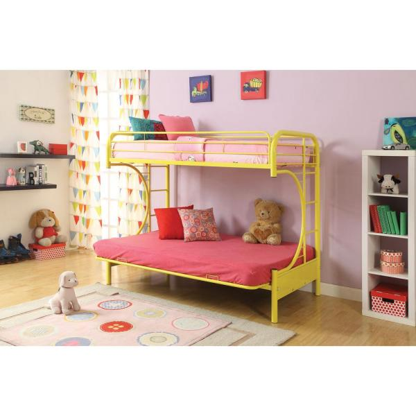 ACME Furniture Eclipse Twin Over Full Metal Kids Bunk Bed 02091YL
