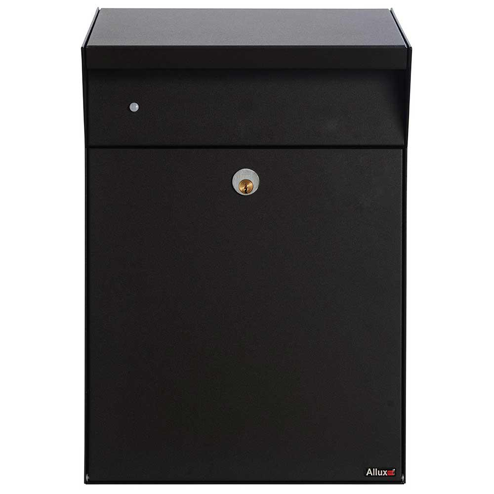 Allux Bjorn Black Wall Mount Locking Mail and Parcel Box