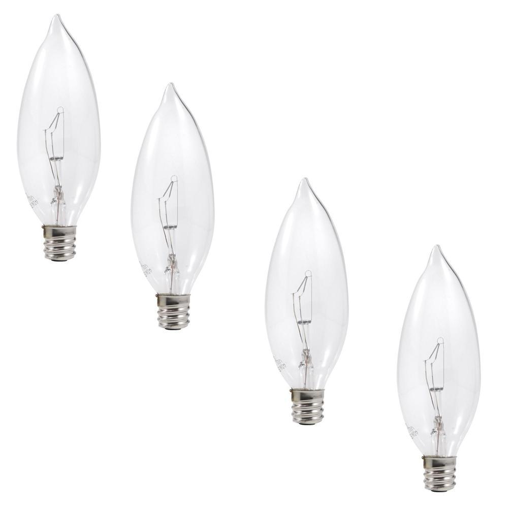 40-Watt Double Life B10 Blunt Incandescent Light Bulb (4-Pack)