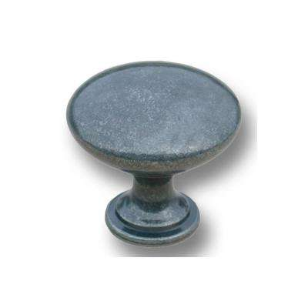 1-1/4 in. Gray Iron Cast Metal Traditional Mushroom Cabinet Knob