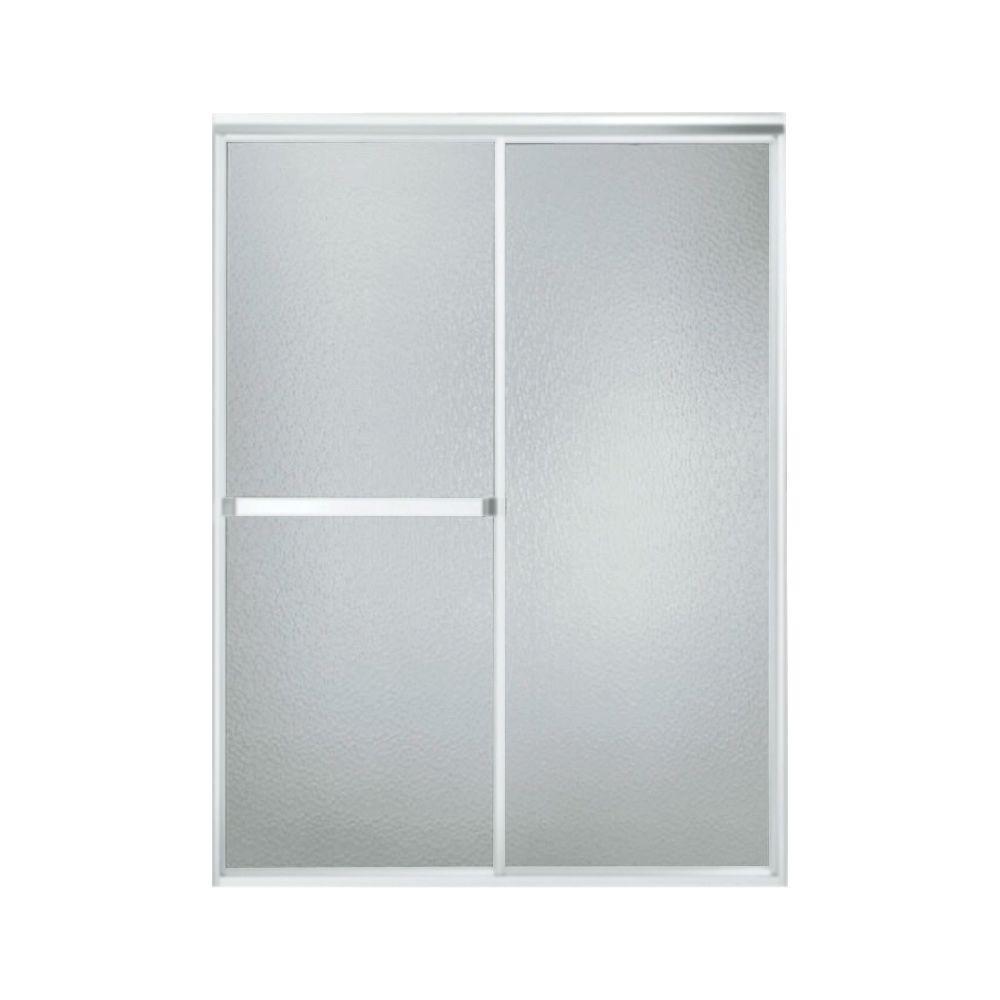 STERLING Standard 48 in. x 65 in. Framed Sliding Shower Door in Soft Silver  sc 1 st  The Home Depot & STERLING Standard 48 in. x 65 in. Framed Sliding Shower Door in ...
