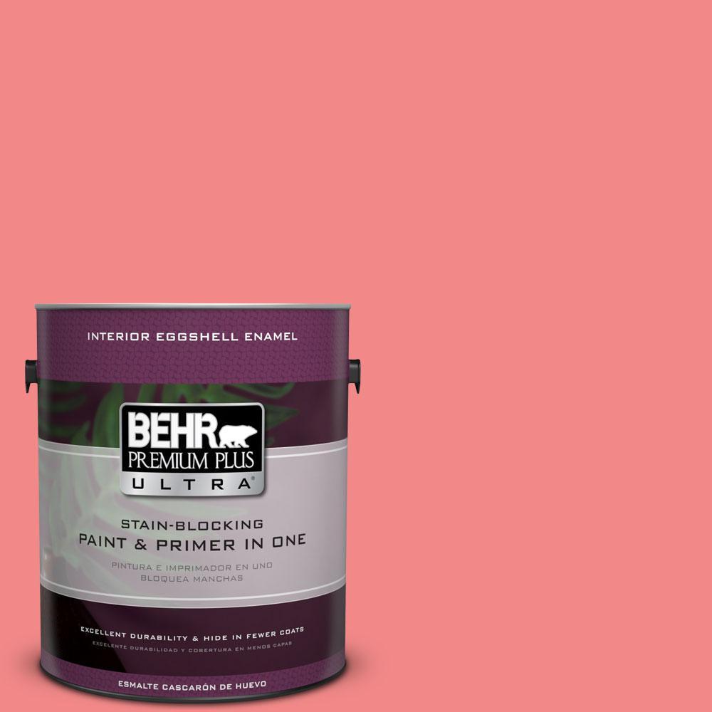 BEHR Premium Plus Ultra 1-gal. #150B-5 Cheery Eggshell Enamel Interior Paint