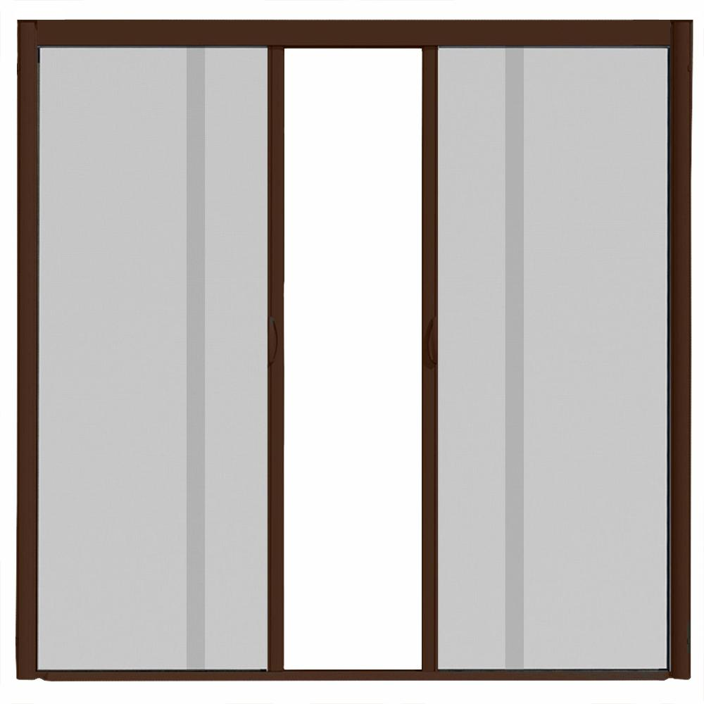 Dicas 100 Door Room Door: VisiScreen 72 In. X 100 In. VS1 Brownstone Retractable