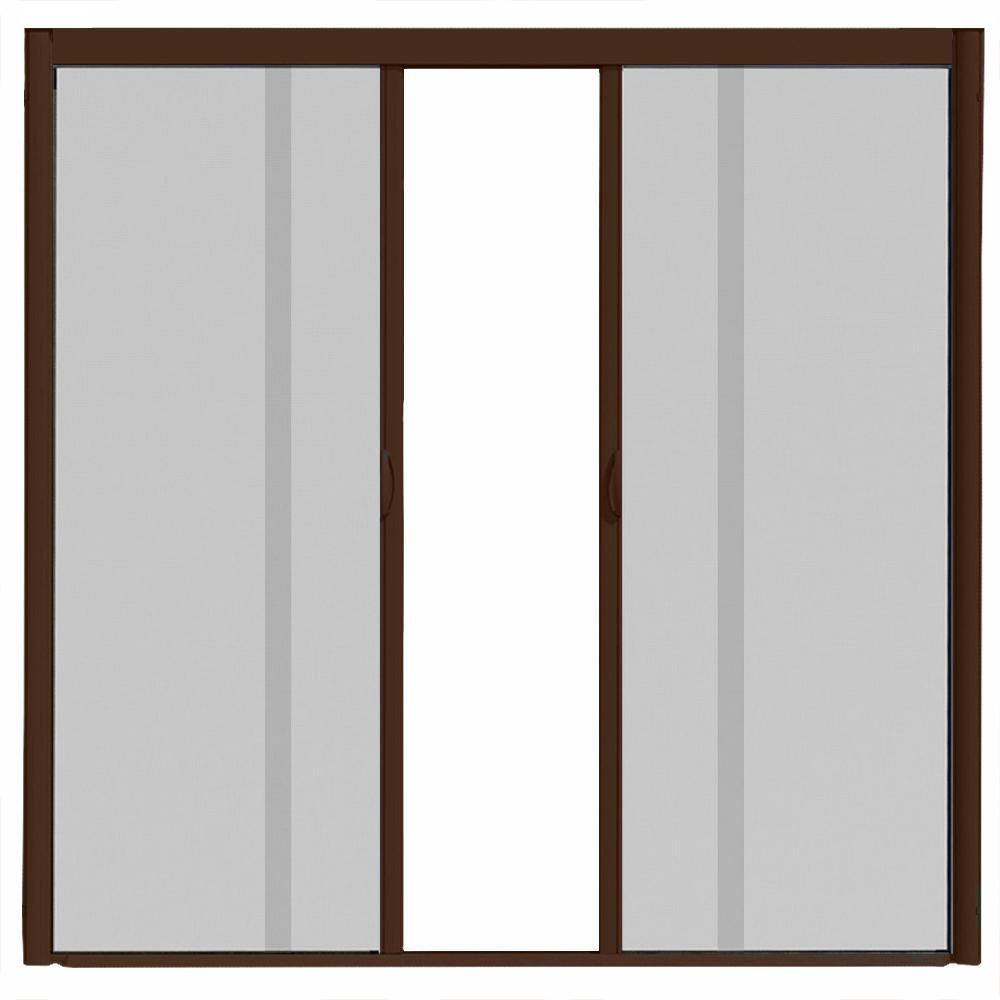 VS1 Brownstone Retractable Screen Door, Double Cassette