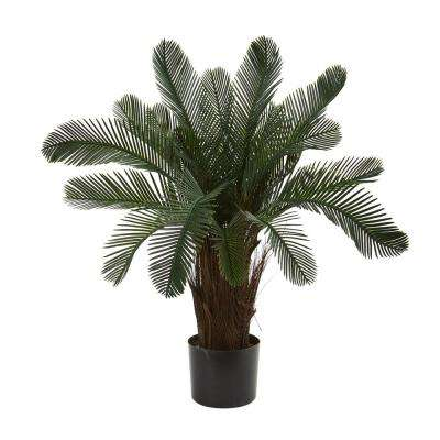 2 in. UV Resistant Indoor/Outdoor Cycas Artificial Tree