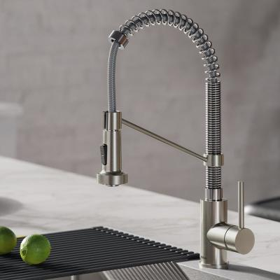 Bolden Single-Handle Pull-Down Sprayer Kitchen Faucet with Dual Function Sprayhead in Stainless Steel and Chrome