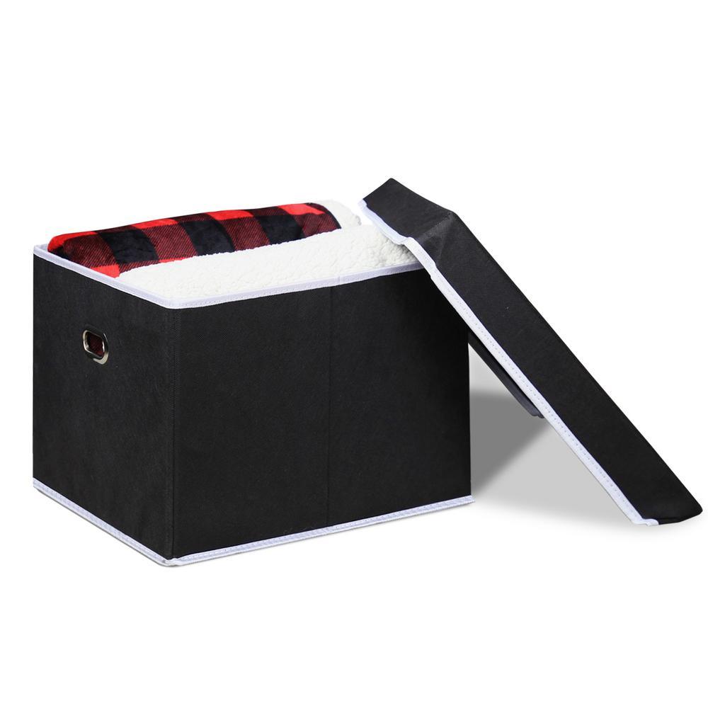 Heavy Duty Black Non-Woven Fabric Storage Bin