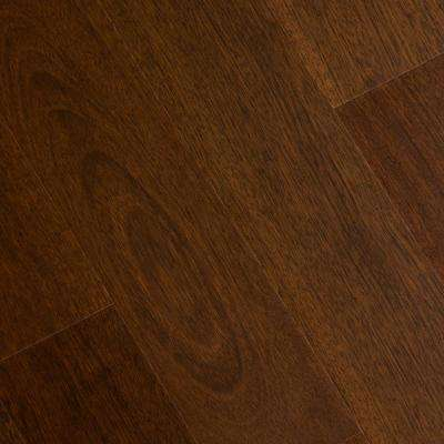Matte Jatoba 3/8 in. Thick x 5 in. Wide x Varying Length Click Lock Hardwood Flooring (19.686 sq. ft. / case)