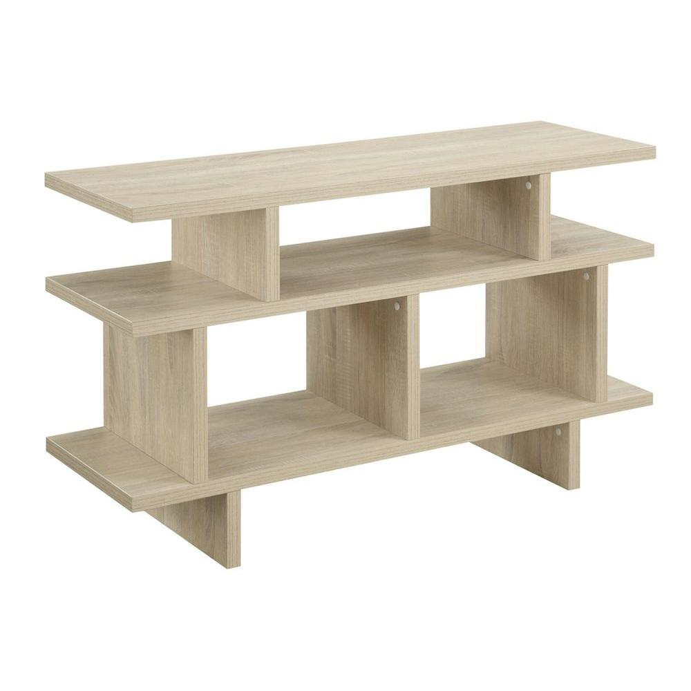 Designs2Go Key West Weathered White Shelved Entertainment Center