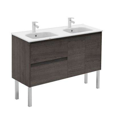 47.5 in. W x 18.1 in. D x 32.9 in. H Bathroom Vanity in Samara Ash with Vanity Top and Basin in White
