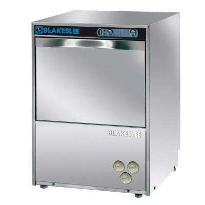 Front Control High Temperature Commercial Dishwasher in Stainless Steel