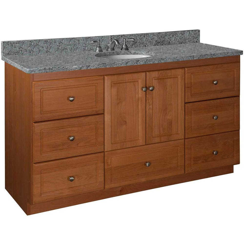 Vanity Center Basin Cabinet Medium Alder Vanities