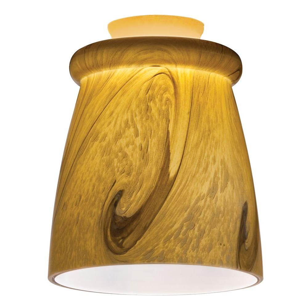 Lithonia Lighting Caramel Mocha Gold LED Mini Pendant with Swirl Top Rib Shade