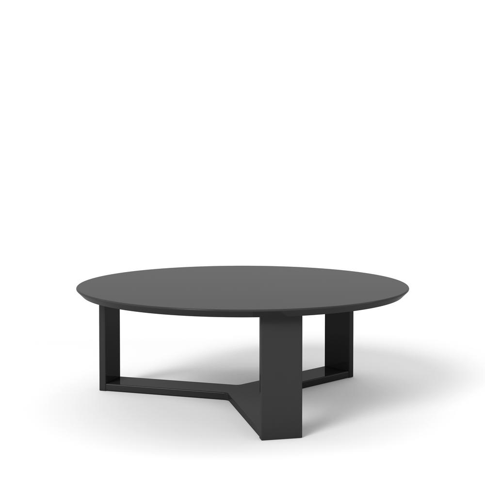 Manhattan Comfort Madison 1 0 35 78 In Black Gloss Round Accent Coffee Table
