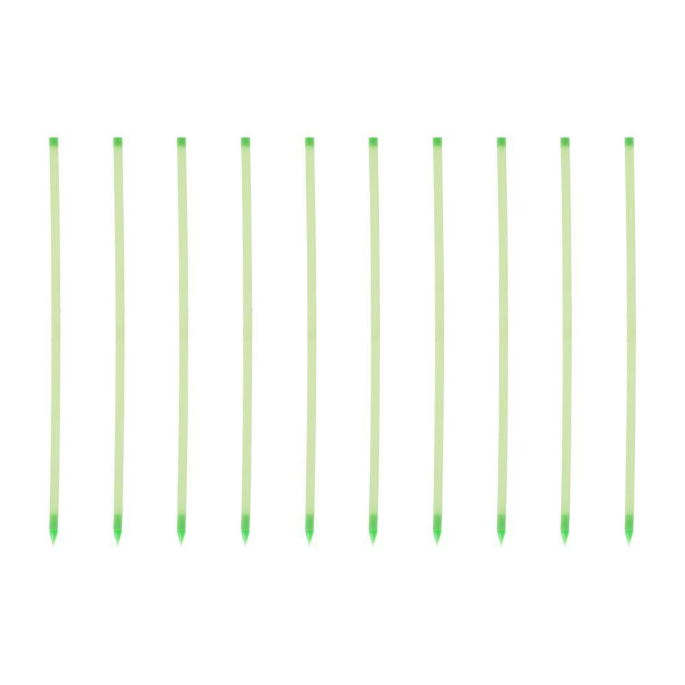 Trademark Home 16.5 in. Glow in the Dark Path Marker Rods (10-Piece)