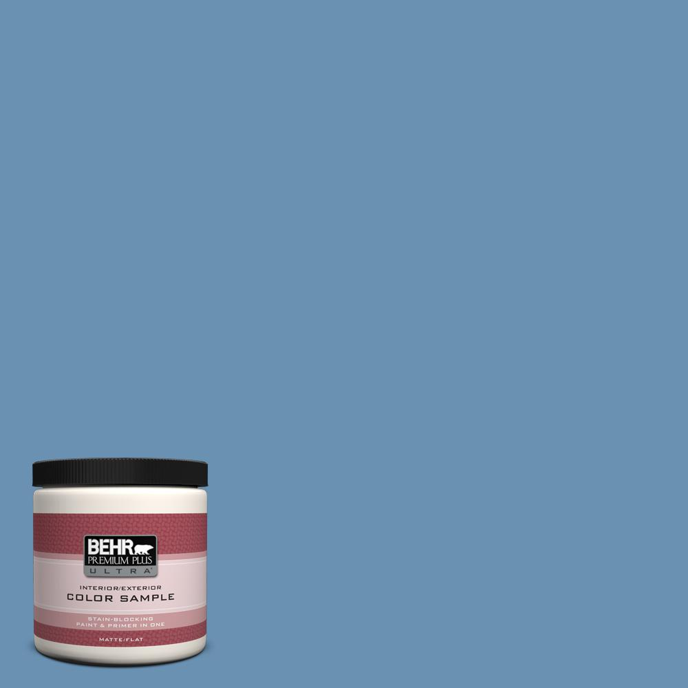 8 oz. #M510-4 Brittany Blue Interior/Exterior Paint Sample
