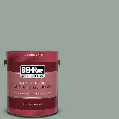 1 gal. #MQ6-17 Green Trellis Matte Interior Paint and Primer in One