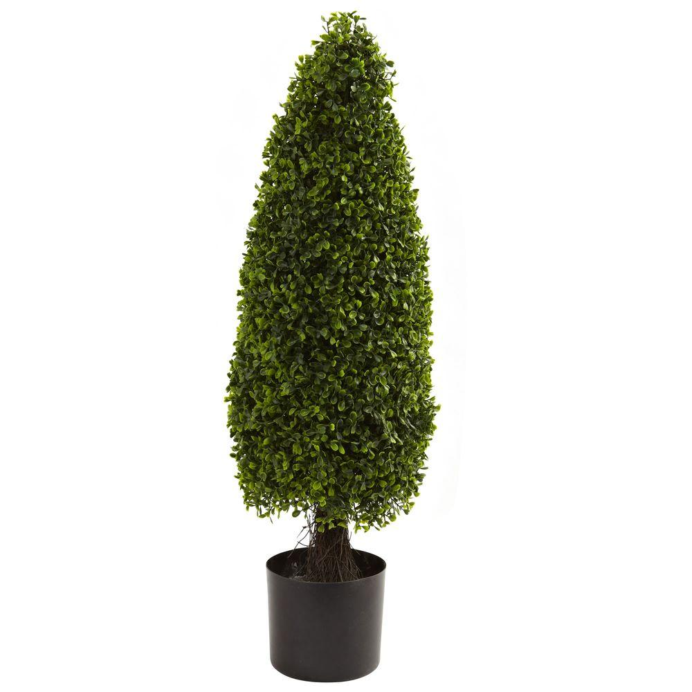3 ft. UV Resistant Indoor/Outdoor Boxwood Tower Topiary