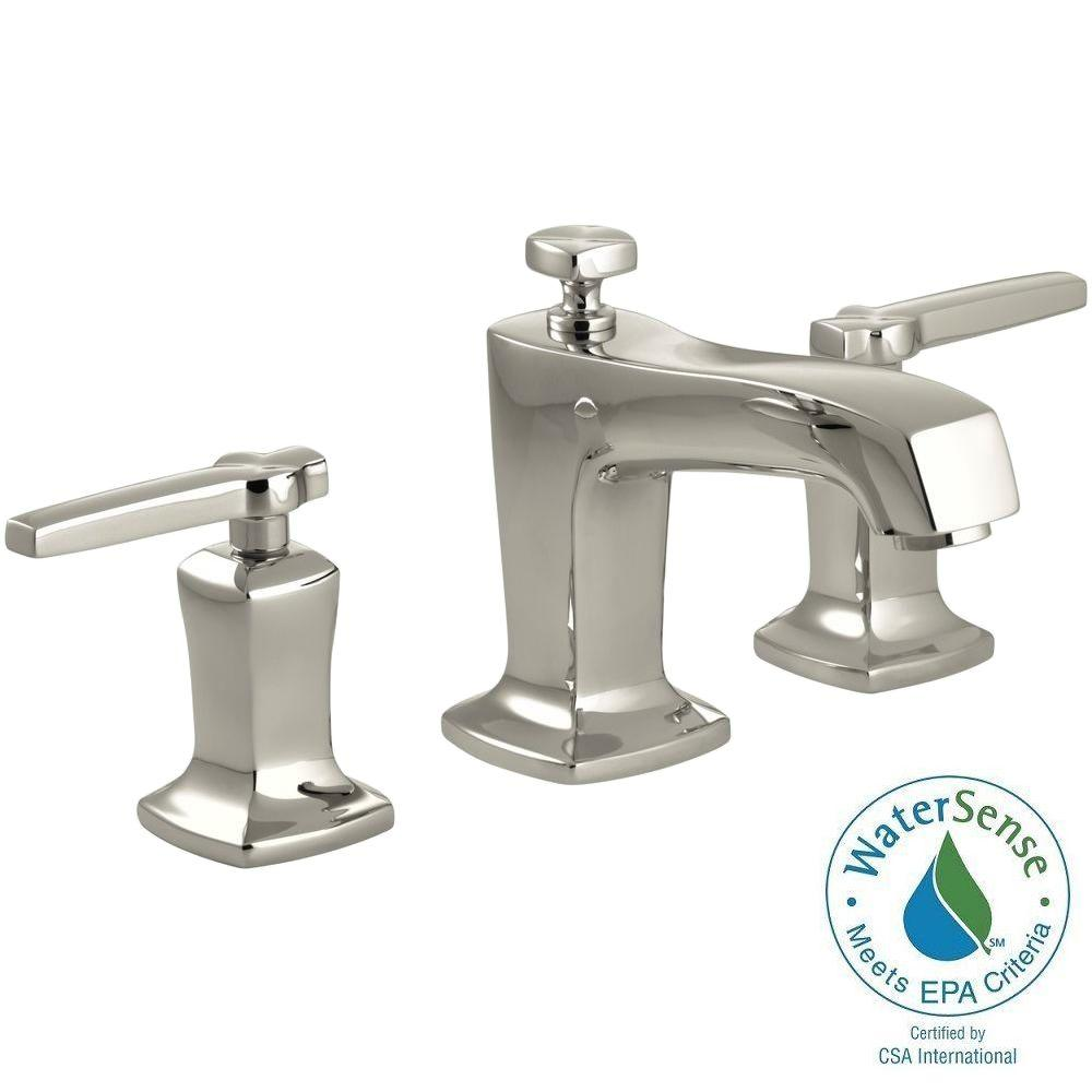 KOHLER Margaux 8 in. Widespread 2-Handle Low-Arc Water-Saving Bathroom Faucet in Vibrant Polished Nickel