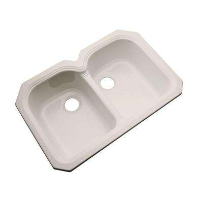 Hartford Undermount Acrylic 33 in. Double Bowl Kitchen Sink in Desert Bloom