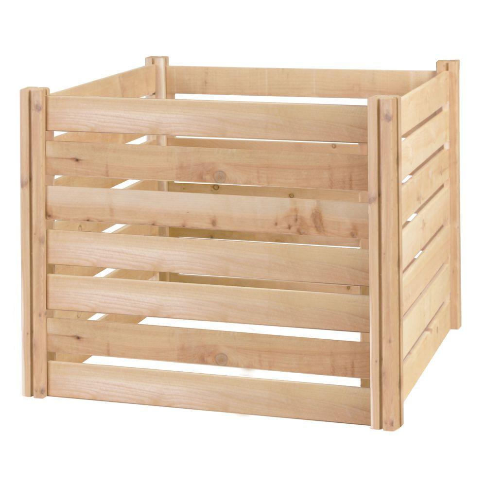 Greenes 309.17 Gal. Cedar Wood Stationary Composter