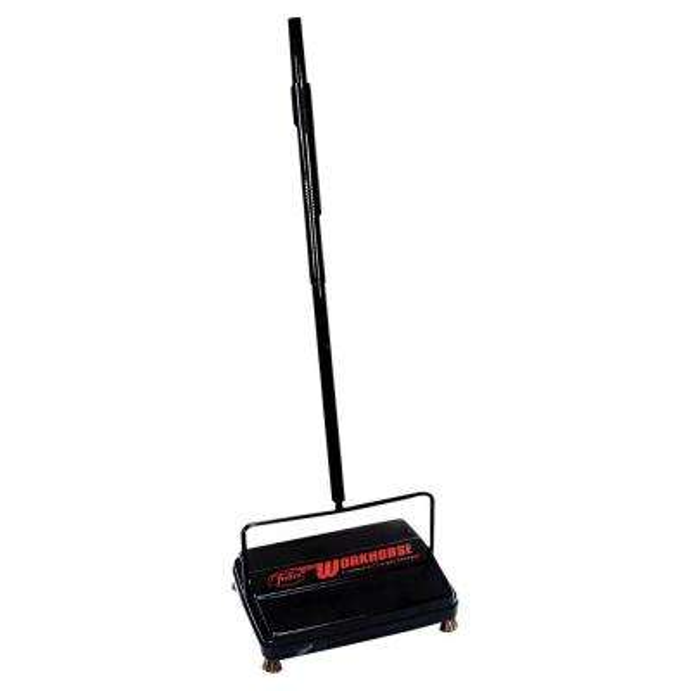 46 in. Workhorse Carpet Sweeper in Black