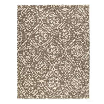 Arden Mocha 5 ft. x 7 ft. 6 in. Jacquard Area Rug