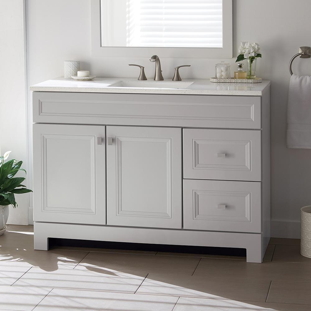 47 49 in vanities with tops bathroom vanities the home depot rh homedepot com