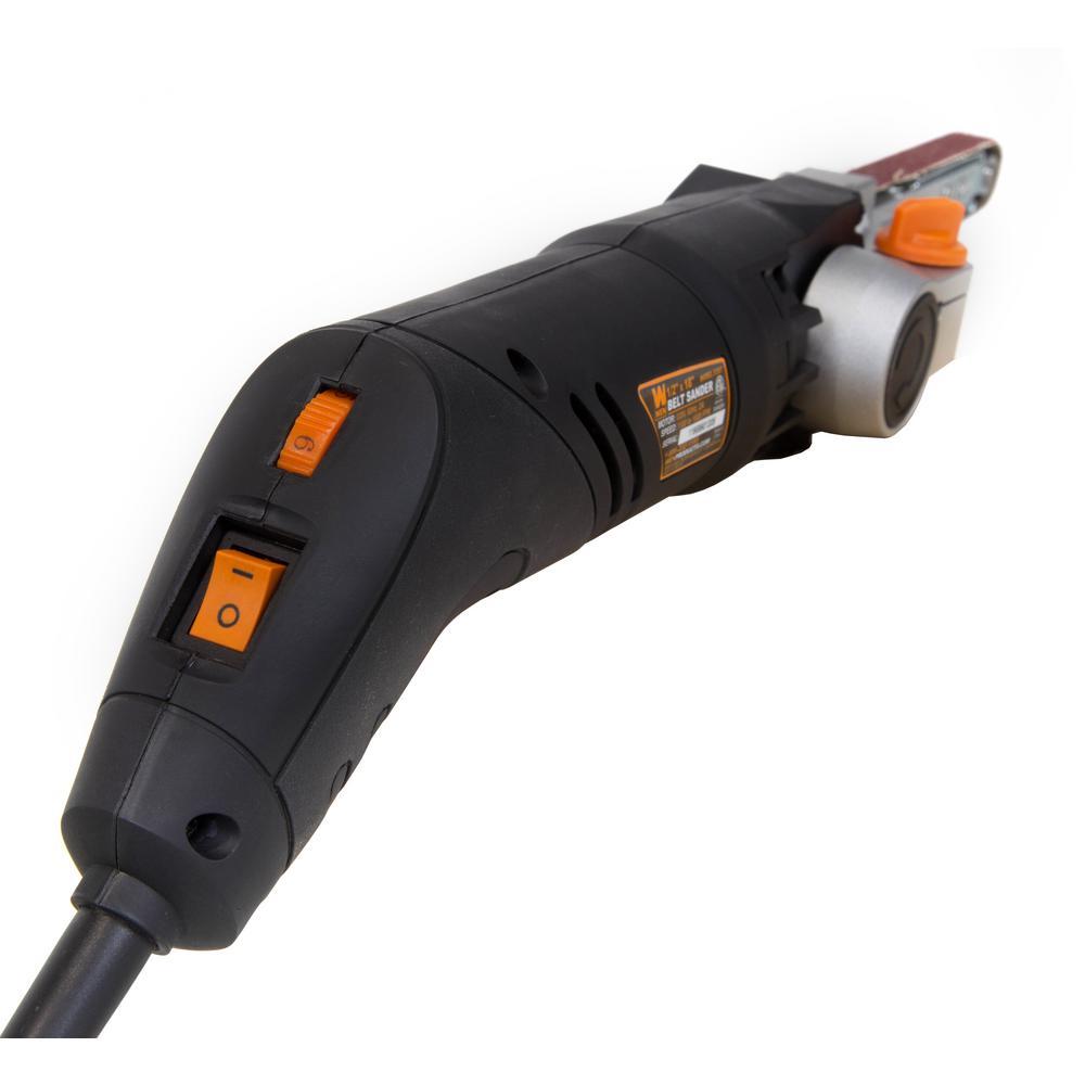 Detailing File Sander Narrow 18 Inch Belt Pivoting Angle Sanding Corded Handheld