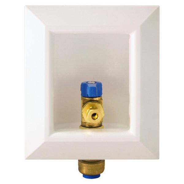 1/2 in. Brass Push-to-Connect Ice Maker Outlet Box