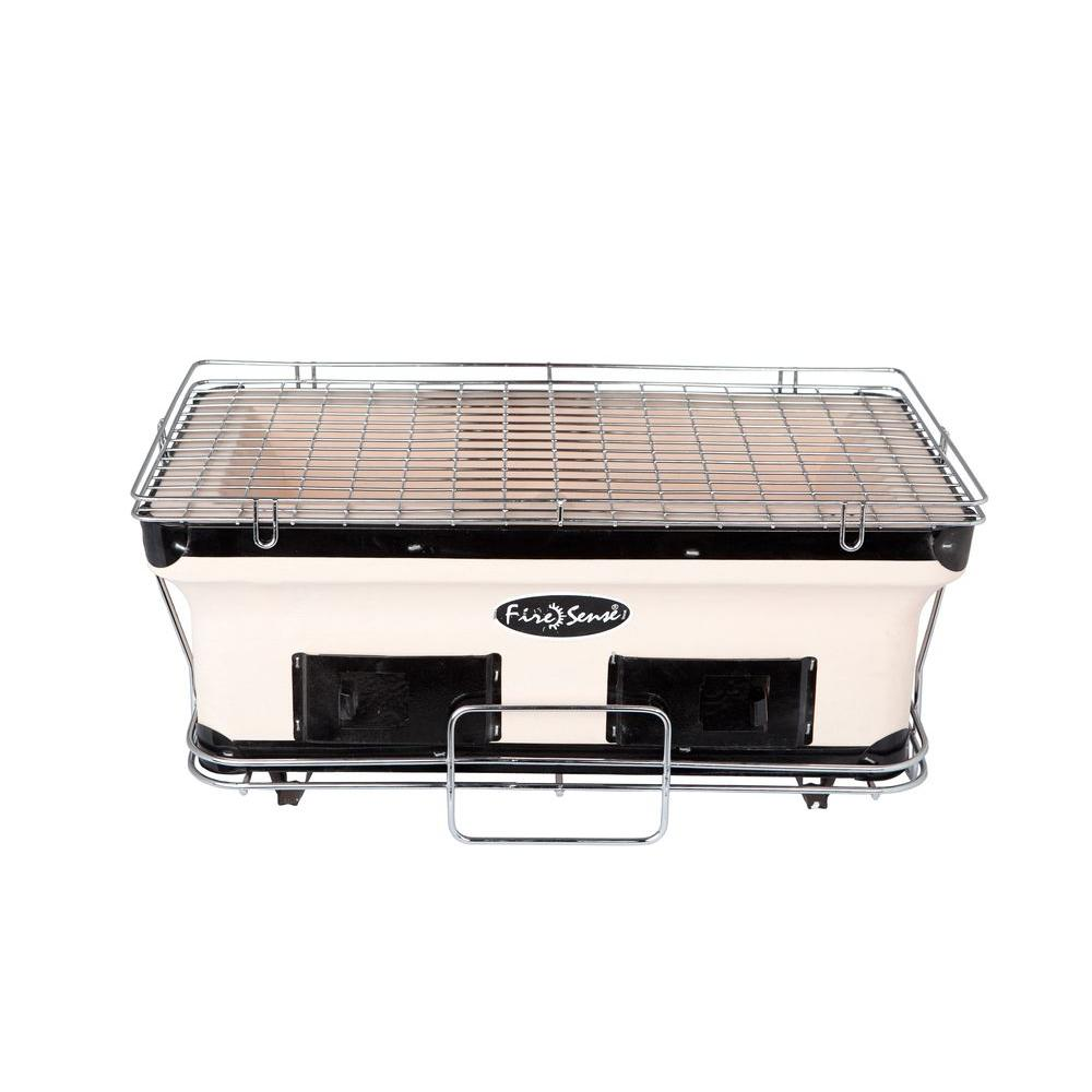 Fire Sense Large Yakatori Charcoal Portable Grill in Tan