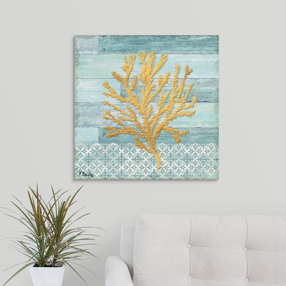 Greatbigcanvas clearwater coral iii by paul brent canvas wall art 2524870 24 24x24 the home depot