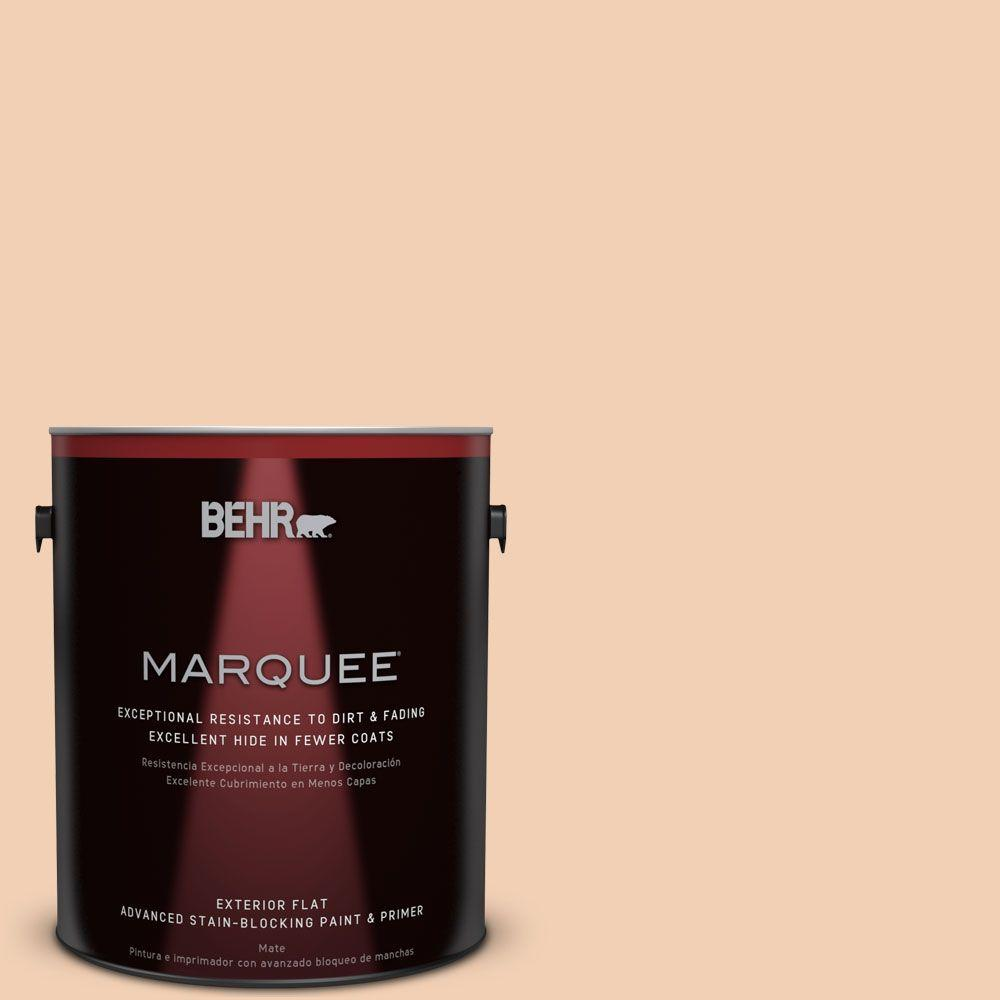 BEHR MARQUEE 1-gal. #PPU3-7 Pale Coral Flat Exterior Paint