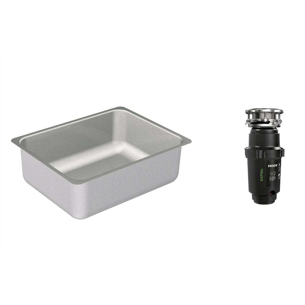Moen 2000 Series Undermount Stainless Steel 23 In Single Bowl Kitchen Sink With Gx Pro Series 1