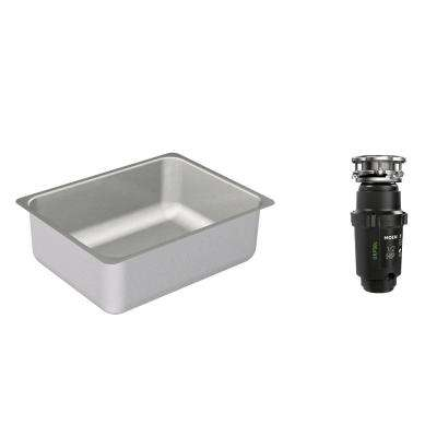 2000 Series Undermount Stainless Steel 23 in. Single Basin Kitchen Sink with GX Pro Series HP Garbage Disposal