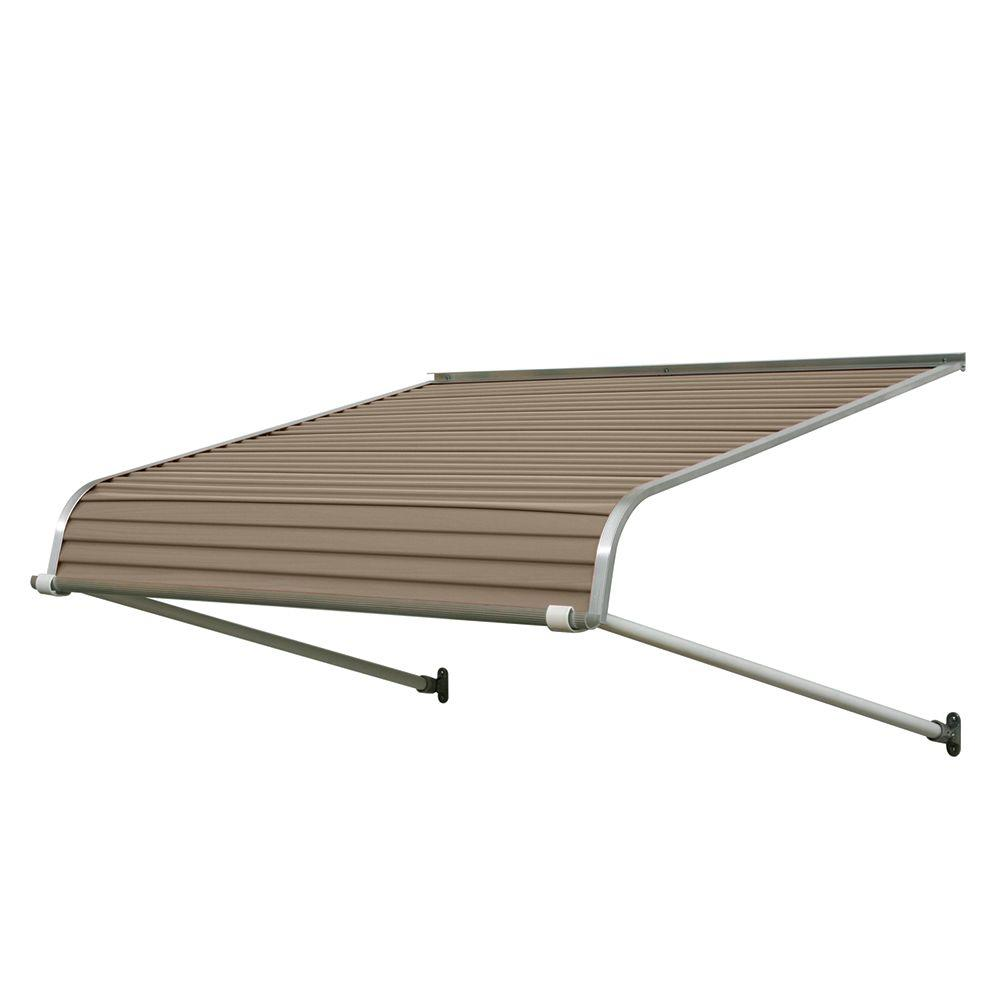 NuImage Awnings 3.33 ft. 1100 Series Door Canopy Aluminum Awning (13 in. H x 30 in. D) in Sandalwood