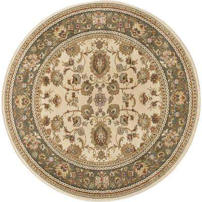 Sensation Beige 7 ft. 10 in. Round Traditional Area Rug