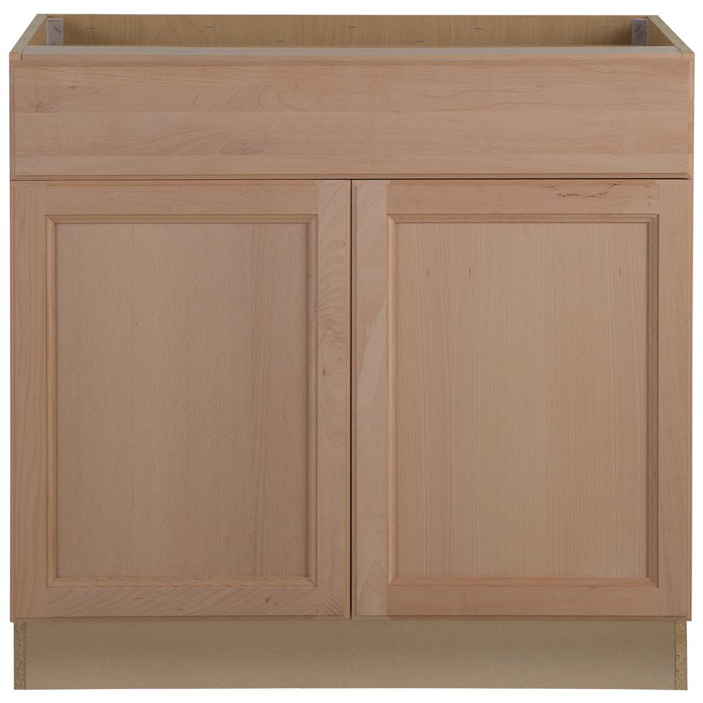 Unfinished Shaker Kitchen Cabinets Hampton Bay Easthaven Shaker Assembled 36x34.5x24 in. Frameless