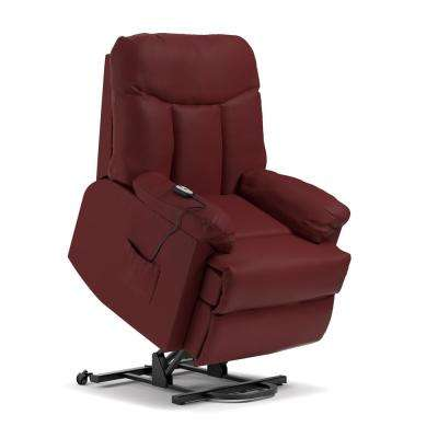 Burgundy Red Wall Hugger Power Lift Reclining Chair