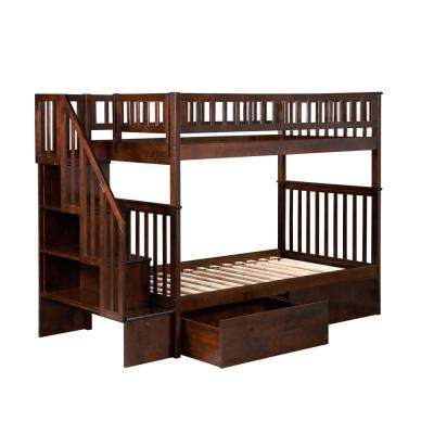 Bunk Bed Bunk Loft Beds Kids Bedroom Furniture The Home Depot