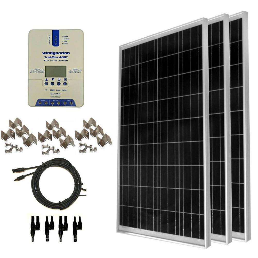 300-Watt Off-Grid Polycrystalline Solar Panel Kit with TrakMax MPPT 40 Amp Solar Charge Controller
