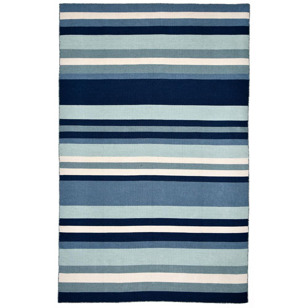 Bright Outdoor Area Rugs: Tasso Bright Stripe Waters 5 Ft. X 8 Ft. Rectangle Indoor