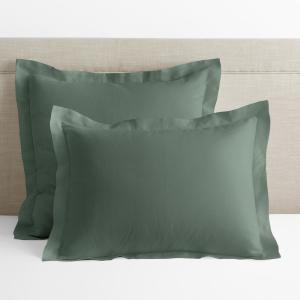 Legends Hotel Relaxed Green Solid Linen Euro Sham