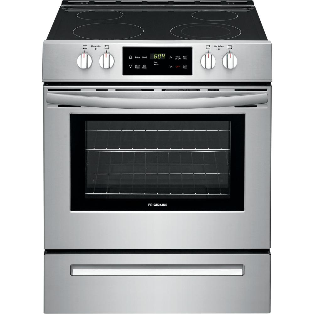Frigidaire Frigidaire 30 in. 5 cu. ft. Front Control Electric Range in Stainless Steel, Silver